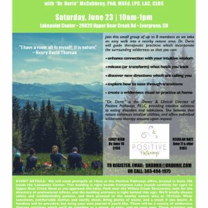 Wilderness Therapy Workshop – Evergreen, Colorado